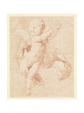 A Flying Putto Giclee Print by Edme Bouchardon