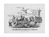 The Democracy in Search of a Candidate, Published by Currier and Ives, New York, 1868 Giclee Print by John Cameron