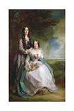 Lady Adeliza Manners and Lady Mary Foley, 1848 Giclee Print by Sir Francis Grant