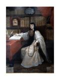 Portrait of Sor Juana Ines De La Cruz, 1750 Giclee Print by Miguel Cabrera