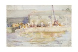 Quay Scamps, 1896 Giclee Print by Henry Scott Tuke