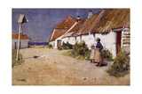 Seaside Cottages with Dovecot Impression giclée par Edward Arthur Walton