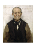 Old Willie - the Village Worthy, 1886 Giclée-Druck von Sir James Guthrie