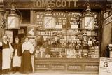 Tom Scott's Hairdresser and Tobacconist, Leytonstone, London Photographic Print