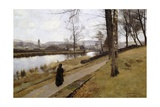 The Last Turning, Winter, Moniaive, 1885 Giclee Print by James Paterson