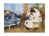Children's Afternoon at Wargemont, 1884 Giclee Print by Pierre-Auguste Renoir