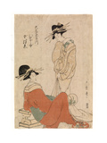 Two Courtesans, C.1800-10 Giclee Print by Kitagawa Utamaro