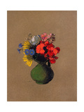Geraniums and Flowers of the Field Giclee Print by Odilon Redon