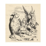 Alice with the Gryphon and the Mock Turtle, from 'Alice's Adventures in Wonderland' by Lewis… Giclee Print by John Tenniel