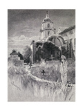 Graveyard and Mission, San Luis Rey De Francia, California, from 'The Century Illustrated Monthly… Giclee Print by Henry Sandham
