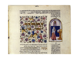 Fol.123V (Detail) from 'The Rothschild Miscellany', Northern Italy, C.1450-80 Impression giclée