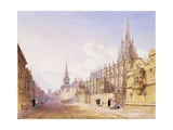 Scholars and Figures Outside St. Mary Magdalen Church, Oxford Giclee Print by Joseph Murray Ince