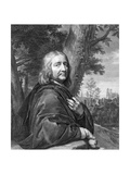 Self Portrait, Engraved by Gerard Edelinck Giclee Print by Philippe De Champaigne