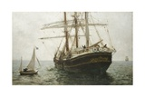 The Missionary Boat, 1894 Giclee Print by Henry Scott Tuke