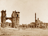 Clock Tower in Front of the Bailee Guard Gate, Lucknow Photographic Print by Felice Beato