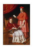 Portrait of Pope Gregory Xv and Ludovico Ludovisi Giclée-tryk af Domenichino