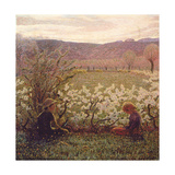 Flowering Meadow Giclee Print by Giuseppe Pellizza da Volpedo