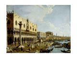 Venice: a View of the Doge's Palace and the Riva Degli Schiavoni from the Piazzetta Giclee Print by  Canaletto