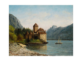 The Castle of Chillon, Evening, C.1872 Reproduction procédé giclée par Gustave Courbet