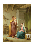 The Holy Family in St Joseph's Workshop Giclee Print by Pietro Pezzati