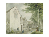 Alms Houses in St. Cuthbert's Churchyard, Wells Giclee Print by Michael Rooker