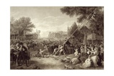 Raising the Liberty Pole, 1776, Engraved by John C. Mcrae, 1875 Giclee Print by Frederic A. Chapman