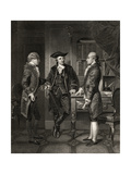 Baron De Kalb (Centre) Introducing Lafayette to Silas Dean, from 'Life and Times of Washington',… Giclee Print by Alonzo Chappel