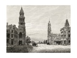 King William Street, Adelaide, C.1880, from 'Australian Pictures' by Howard Willoughby, Published… Giclee Print