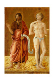 St. John the Baptist and St. Sebastian, C.1450-70 Giclee Print by Giovanni Boccati Or Boccatto