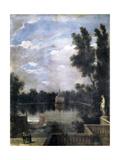 A Pond of the Buen Retiro, C.1637 Giclee Print by Juan Bautista Martinez del mazo
