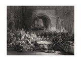 Prince Llewellyn and His Barons, Engraved by William Radclyffe (1783-1855) Giclee Print by George Cattermole