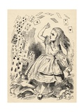 Alice and the Pack of Cards, from 'Alice's Adventures in Wonderland' by Lewis Carroll, Published… Giclee Print by John Tenniel