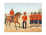 The Queen's Own Madras Sappers and Miners, Review Order, Anglo-Indian Army of the 1880s Giclee Print by Richard Simkin