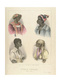 Creole Negroes, Plate 12 from 'sketches of Character...', 1838 Giclee Print by Isaac Mendes Belisario