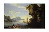 Coastal Scene with Fishermen Giclée-tryk af Salvator Rosa