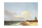 Yarmouth Beach, Looking North - Morning Giclee Print by John Crome