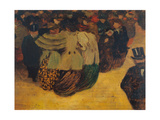 The Crowd (La Foule) 1894 Giclee Print by Félix Vallotton