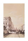 Nevsky Prospekt, St. Petersburg, Illustration from 'Voyage Pittoresque En Russie', 1843 Giclee Print by Andre Durand