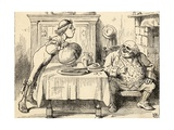 Father William Having Eaten the Goose, from 'Alice's Adventures in Wonderland' by Lewis Carroll,… Giclee Print by John Tenniel