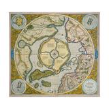 Septentrionalium Terrarum Descriptio, 1595 Giclée-Druck von Gerardus Mercator