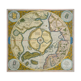 Septentrionalium Terrarum Descriptio, 1595 Giclee Print by Gerardus Mercator