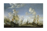 A Battle at Sea Giclee Print by Reinier Zeeman