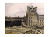 A Corner of the Louvre, 1885-1900 Giclée-Druck von Antoine Vollon