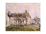 Village Street, Moret-Sur-Loing, C.1894 Giclee Print by Alfred Sisley