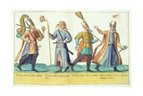 Sixteenth Century Costumes from 'Omnium Poene Gentium Imagines', Published in Cologne, 1577 Giclee Print by Abraham de Bruyn