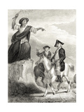 Meg Merrilies Predicting the Fall of the House of Ellangown, Illustration from 'Guy Mannering' by… Giclee Print by Sir William Allan