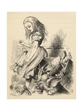 Giant Alice Upsets the Jury Box, from 'Alice's Adventures in Wonderland' by Lewis Carroll,… Giclee Print by John Tenniel