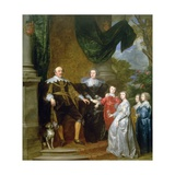 John, Count of Nassau with His Family, 1634 Giclee Print by Sir Anthony van Dyck