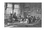 The School of Sultan Hassan, Engraved by Butterworth and Heath Giclee Print by Frederick Goodall