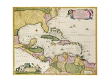 Map of Central America Giclee Print